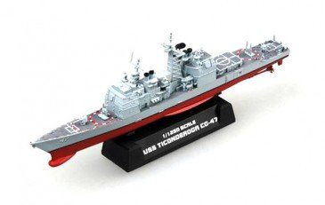 (X) Easy Model 37401 - 1/1250 Uss Ticonderoga Cg-47 - Kreuzer(Ticonderoga Class)