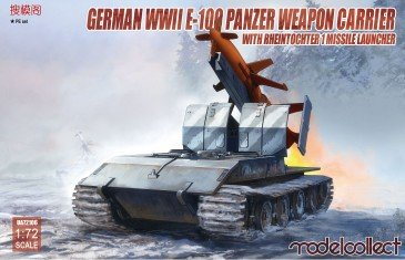 Modelcollect UA72106 - 1:72 German WWII E-100 panzer weapon carrier with Rheintochter 1 missile laun