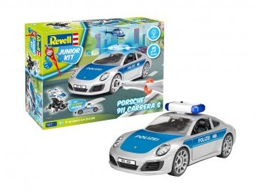 Revell 00818 - 1/20 Junior Kit - Porsche 911 Carrera S - Polizei - Neu